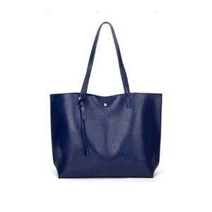 DarkBlue Style Soft Faux Leather Shoulder Bag